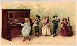 1 Trade Card Chromo  Fabrique Piano Pub. Estey  Pianos & Organs  Orchestra Club Anno 1897    USA  Lithography - Autres