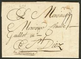Calvados-Lettre De Vire-1761-Marque Lenain L1a - 1701-1800: Précurseurs XVIII
