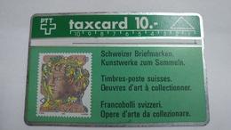Switzerland-(s014.D-p14)-hans Eri 90rp-(10chf)-(112f)-tirage-100.00-used Card - Suisse