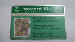 Switzerland-(s014.E-p14)-hans Eri 90rp-(10chf)-(132c)-tirage-20.000-used Card - Suisse