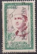 Marocco, 1956/1957 - 15fr Sultan Mohammed - Nr.3 Usato° - Marocco (1956-...)