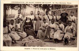 AFRIQUE -- ANGOLA -- Filant La Toile Pour La Mission - Angola