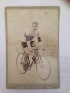 BOURROSSE - CYCLISTE - PHOTO SUR PLAQUE EN CARTON - Cyclisme