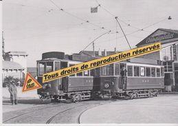 Motrices 1900 Des Tramways Près De La Gare, à Perpignan (66) - - Tramways