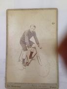 RIVIERRE  - CYCLISTE - PHOTO SUR PLAQUE EN CARTON - Cyclisme