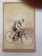 JACQUELIN - CYCLISTE - PHOTO SUR PLAQUE EN CARTON - Cyclisme