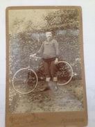 CYCLISTE - PHOTO SUR PLAQUE EN CARTON - Cyclisme