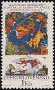 "Czechoslovakia / Stamps (1968) 1737: Slovak National Fairy Tales ""Pamodaj Stastia, Lavicka""; Painter: Ludovit Fulla - Beroemde Personen"
