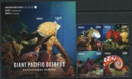 TUVALU 2014 Giant Pacific Octopus, Marine Life, Fauna MNH - Tuvalu