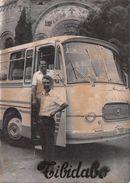 Photographie Circa 1960 - Barcelona Tibidabo - Bus Setra Seida - Cars