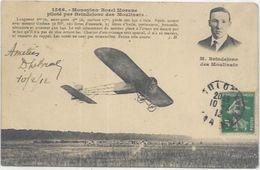 AVIATION..   M BRINDEJONE DES MOULINAIS SUR MONOPLAN BOREL MORANE - Flieger