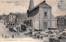 (62) Boulogne Sur Mer - L'Eglise Saint St Nicolas - Tram Tramway - Boulogne Sur Mer