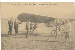 AVIATION..  GRANDES MANOEUVRES DU 7 CORPS D ARMEE - Aviateurs