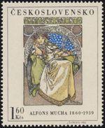 "Czechoslovakia / Stamps (1968) 1732: Alphonse Mucha (1860-1939) ""Princess Hyacinta"" (1911) Theater Drama - Theatre"