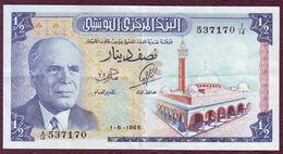 TUNISIE - 1/2 DINAR Habib Bourguiba - 01/06/1965 - Pick.62 - Tunisie