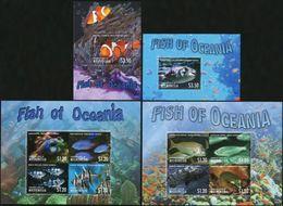 MICRONESIA 2012 2013 Fish Of Oceania, Fishes, Marine Life, Fauna MNH - Micronesia