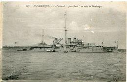 Le Cuirassé JEAN BART En Rade De DUNKERQUE  écrite Sous Enveloppe En 1918 - Dunkerque