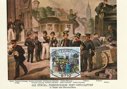 Germany - Preußische Postbeamte Um 1855.    Maxicard.  Used 1982  Postmark: Kitzingen  # 07123 - Postal Services