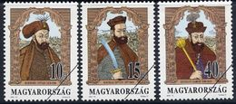 HUNGARY 1992 Princes Of Transylvania With Specimen / Muster Cancellation MNH / **.  Michel 4217-19 - Hungary