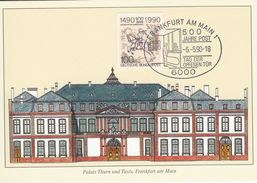 Germany - 500 Jahre Post.   Maxicard.  Used 1990  Postmark: Frankfurt Am Main.   # 07126 - Postal Services