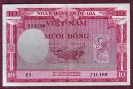 VIET NAM DU SUD - 10 DONG Poisson - ND (1955) - Pick.3a - Vietnam