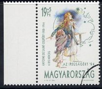 HUNGARY 1994 Youth Charity With Specimen / Muster Cancellation MNH / **.  Michel 4286 - Hungary