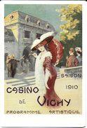 PUBLICITE SAISON 1910 CASINO DE VICHY ALLIER 03 CHAPEAU OMBRELLE   EDIT. COLLECTION DE VICHY - Publicité