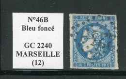 FRANCE- Y&T N°46B- GC 2240 (MARSEILLE 12) - Marcophilie (Timbres Détachés)