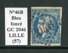 FRANCE- Y&T N°46Ba)- Bleu Foncé- GC 2046 (LILLE 57) - 1870 Ausgabe Bordeaux