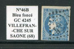 FRANCE- Y&T N°46B- GC 4245 (VILLEFRANCHE SUR SAONE 68) - Marcophilie (Timbres Détachés)