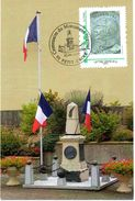 PETIT-CROIX (BELFORT) : PREMIERE GUERRE MONDIALE AVIATION Oblit Temp 2017 Monument PEGOUD CP Et MTAM CONCORDANT - Prima Guerra Mondiale