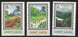 2007 St. Lucia Water For Life Dam  Complete Set Of 3 MNH - St.Lucia (1979-...)