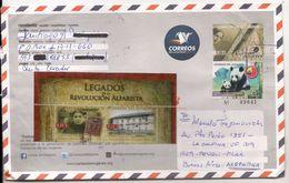 ECUADOR - Uprated Entire Cover LETTERS OF WOMEN + PANDA Bear (Ecuador-China Friendship Stamp) + 2 ALFARO REVOLUTION St - Ecuador