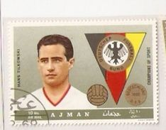 AJMAN GERMANY TEAM HANS TILKOWSKI  FIFA WORLD CUP 1974 GERMANY 1974 - 1974 – Germania Ovest