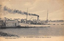 56-QUIBERON- ARRIVEE DU VAPEUR DE BELLE ILE - L'EMILE SALACROUP - Quiberon