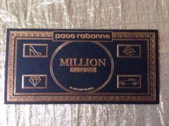 MILLION  MONOPOLY   De PACO RABANNE - Cartes Parfumées