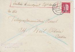 Occupation Allemande En Ukraine Lettre De Minsk 1943 - Occupation 1938-45