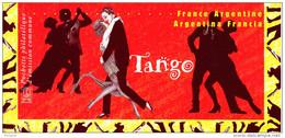 """Emission Commune De 2006 """" FRANCE / ARGENTINE SOUS BLISTER : TANGO """". 2 X N°YT 3932 33 + Argentine 2 X N°YT 2614 15 - Gemeinschaftsausgaben"""
