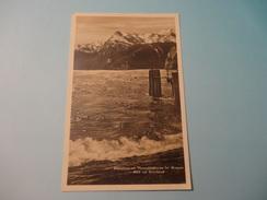 Föhnsturm Am Vierwaldstättersee Bei Brunnen - Blick Auf Uristock /Stempel Des Dampfers Viktoria (164) - SZ Schwyz