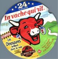 Ancienne étiquette Fromage à Tartiner La Vache Qui Rit 24 Portions 1994 Jurassic Park Les Dinosaures Fromagerie Bel - Kaas