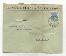 PAYS BAS LETTRE DE BREDA POUR LA FRANCE DU 18/6/1920 - Postal History