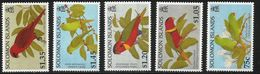 1996 Solomon Islands Lories Birds (saw These Myself - Beautiful) Complete Set Of 5 MNH - Sierra Leone (1961-...)