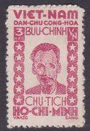 North Vietnam 1L 58 1946 Ho Chi Minh 3h Rose MNG - Vietnam