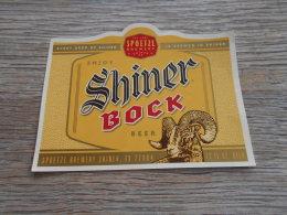 BEER LABEL USA SHINER BOCK - Beer