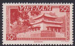 South Vietnam S4 1951 Temple 50c Red Mint Hinged - Vietnam