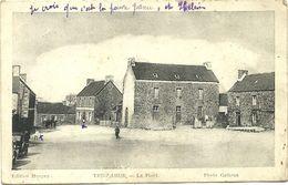 (TREGLAMUS  )(22 COTES DU NORD  )LA PLACE (COURRIER TREGLAMUS 1954) - France