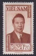 South Vietnam S7 1951 Emperor Bao-Dai 1,20 Pi Yellow Brown Mint Hinged - Vietnam