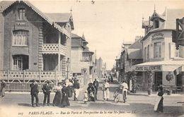 62-TOUQUET PARIS PLAGE- RUE DE PARIS ET PERSPECTIVE DE LA RUE ST-JEAN - Le Touquet