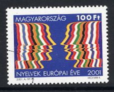 HUNGARY 2001 European Language Year With Specimen / Muster Cancellation MNH / **.  Michel 4642 - Hungary