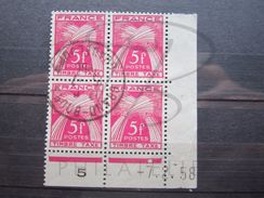 "VEND TIMBRES TAXES DE FRANCE N° 85 EN BLOC DE 4 COIN DATE , OBLITERATION "" GRAND-BOURG - GUADELOUPE "" !!! (a) - 1921-1960: Periodo Moderno"